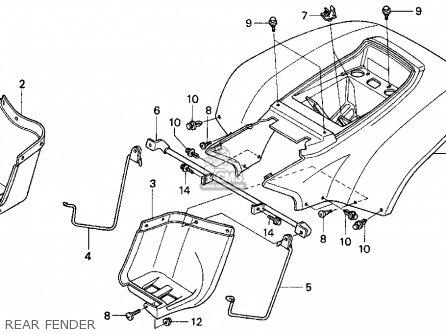 Honda TRX90 FOURTRAX 90 1998 (W) USA parts lists and