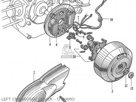 Honda TS50DX BELGIUM (140501) parts lists and schematics
