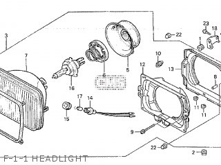 Honda VF1000F 1984 (E) parts lists and schematics
