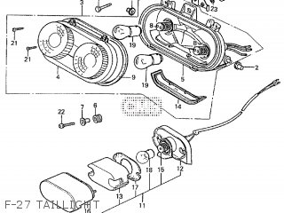 Honda VF1000R 1984 (E) parts lists and schematics