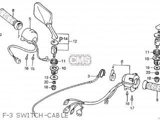 Honda VF1000R 1984 (E) parts lists and schematics