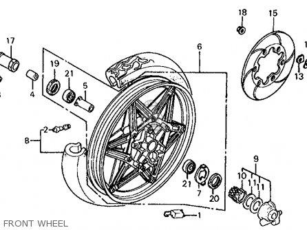 Honda VF1000R 1986 (G) USA CALIFORNIA parts lists and