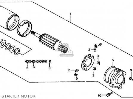 Honda Vf1000r 1986 (g) Usa California parts list