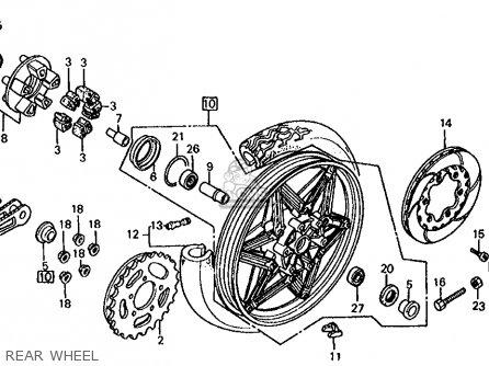 Honda Vf1000r 1986 Usa parts list partsmanual partsfiche