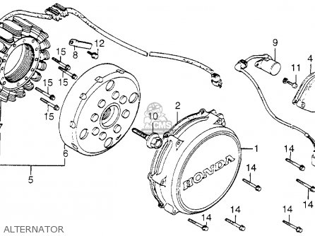 Honda Vf1100c Magna 1983 (d) Usa parts list partsmanual