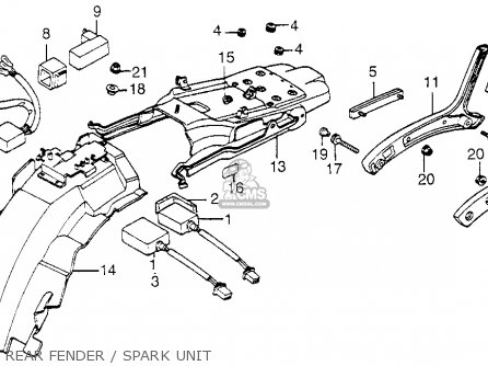 Honda VF1100C MAGNA 1986 (G) USA CALIFORNIA parts lists