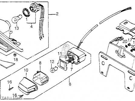 Honda Vf1100c V65 Magna 1983 Usa parts list partsmanual