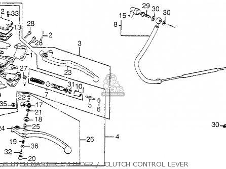 Diagram of honda magna master cylinder pushrod kit