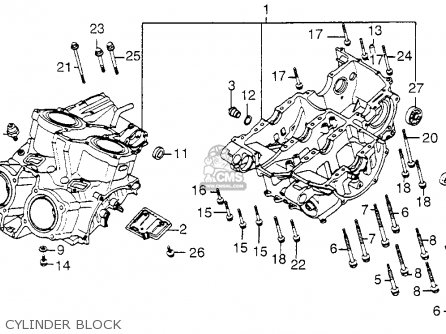Honda Vf1100c V65 Magna 1984 Usa parts list partsmanual