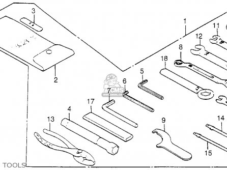 Honda Vf1100c V65 Magna 1985 Usa parts list partsmanual