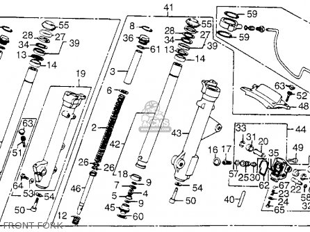 Honda Vf1100c V65 Magna 1986 Usa parts list partsmanual