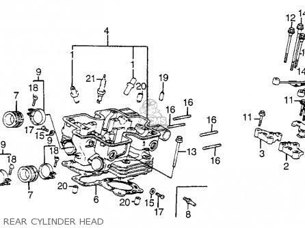 Honda Vf1100s Sabre 1984 (e) Usa California parts list