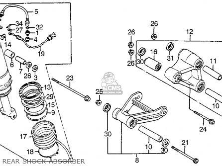 Honda Vf1100s Sabre 1985 (f) Usa California parts list