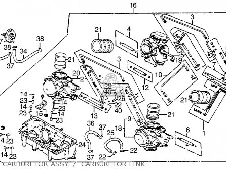 Honda Vf1100s V65 Sabre 1984 Usa parts list partsmanual
