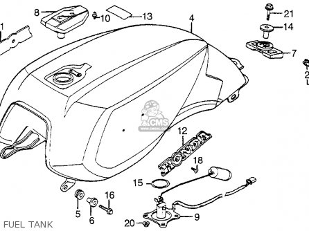 Honda Vf1100s V65 Sabre 1984 Usa parts list partsmanual