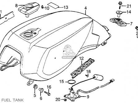 Honda Vf1100s V65 Sabre 1985 (f) Usa parts list