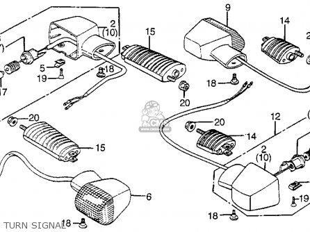 Honda Vf1100s V65 Sabre 1985 Usa Parts List Partsmanual