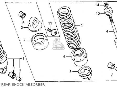 Honda Vf500c V30 Magna 1984 Usa parts list partsmanual