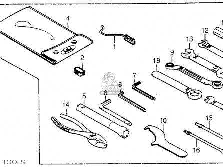 Honda Vf500c V30 Magna 1985 (f) Usa parts list partsmanual