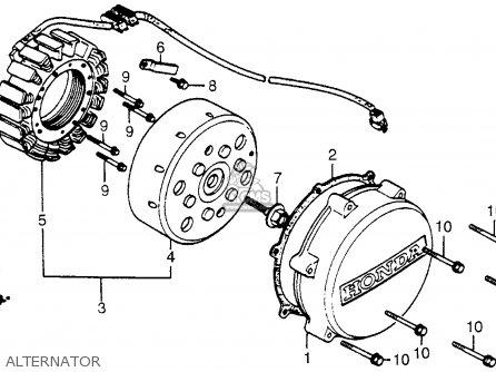 Honda Vf500c V30 Magna 1985 Usa parts list partsmanual