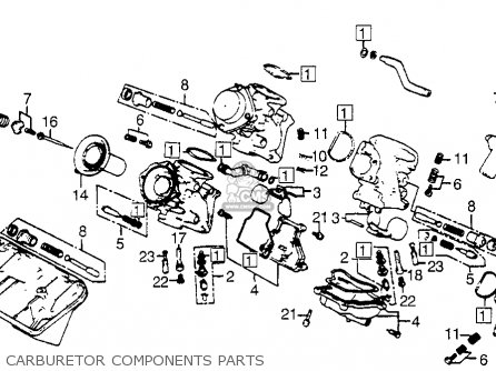 Honda Vf500c V30magna 1984 (e) Usa California parts list