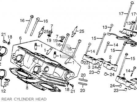 Honda Vf500c V30magna 1985 (f) Usa California parts list