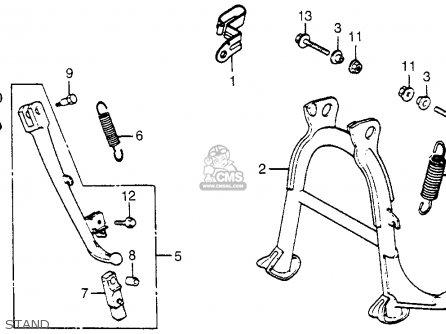 Honda Vf500c V30magna 1985 (f) Usa parts list partsmanual