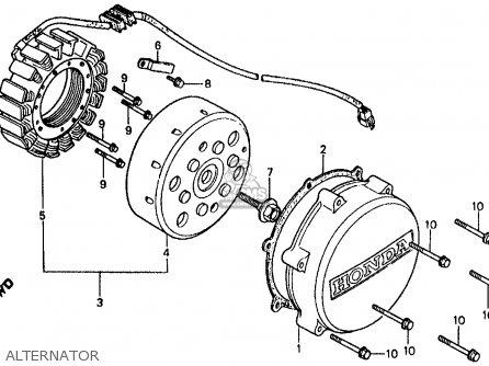 Honda Vf500f 500 Interceptor 1985 Usa parts list