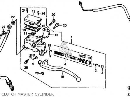 Honda Goldwing Clutch Master Cylinder Diagram, Honda, Free