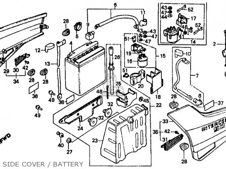 Honda Vf500f 500 Interceptor 1986 (g) Usa parts list
