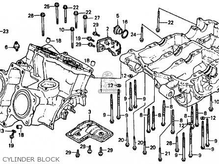 Honda Vf500f 500 Interceptor 1986 Usa parts list