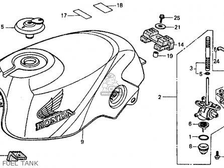 Honda Vf500f Interceptor 1984 (e) Usa California parts