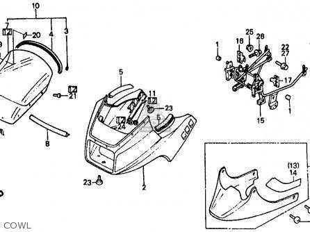 Honda Vf500f Interceptor 1984 (e) Usa parts list