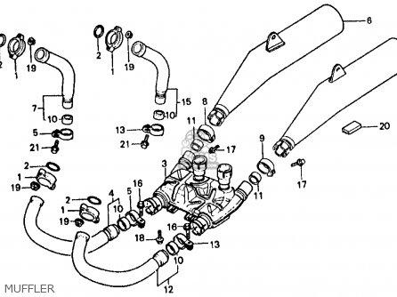 Honda VF500F INTERCEPTOR 1985 (F) USA CALIFORNIA parts
