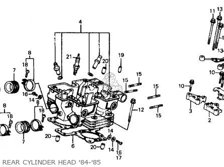 Honda VF700C MAGNA 1984 (E) USA CALIFORNIA parts lists and