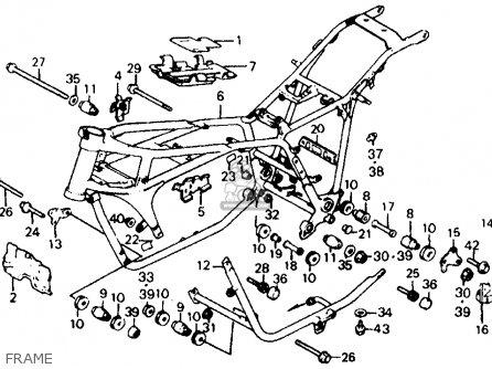 Honda Vf700c Magna 1984 (e) Usa parts list partsmanual