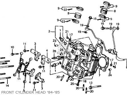 Honda Vf700c Magna 1985 (f) Usa parts list partsmanual