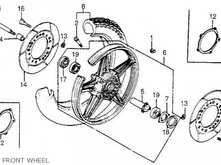 Honda VF750C MAGNA 1982 (C) USA parts lists and schematics