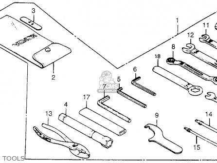 Honda Vf750c Magna 1983 (d) Usa parts list partsmanual
