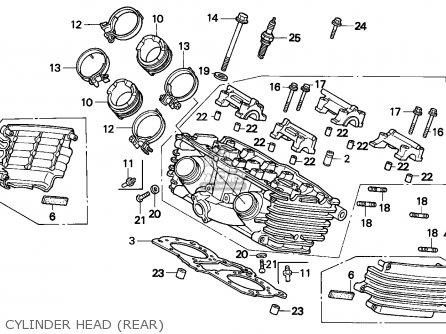 Honda Vf750c Magna 1993 (p) France / Kph parts list