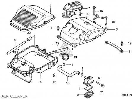 Honda VF750C MAGNA 1994 (R) FRANCE / KPH parts lists and