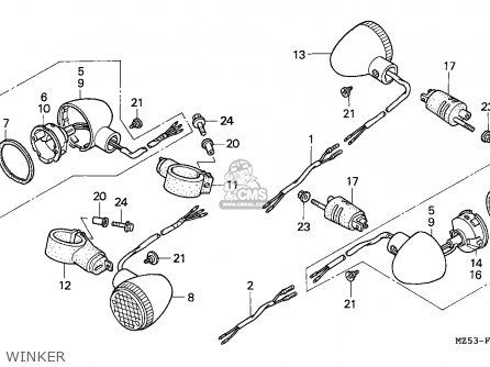 Honda VF750C MAGNA 1994 (R) GERMANY / KPH 34P parts lists
