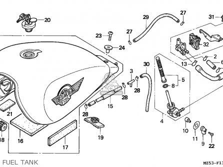 Honda Vf750c Magna 1995 England parts list partsmanual