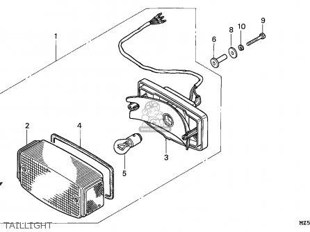 Honda Vf750c Magna 1995 (s) England parts list partsmanual