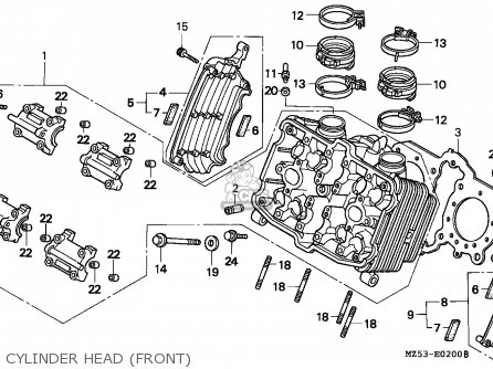 Honda Vf750c Magna 1997 France / Kph parts list