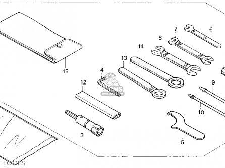 Honda Vf750c Magna 750c 1995 Usa parts list partsmanual