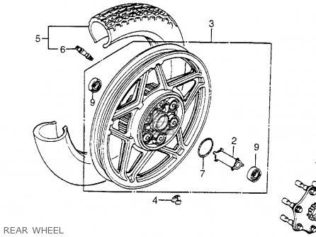 Honda Vf750c V45 Magna 1983 (d) Usa parts list partsmanual
