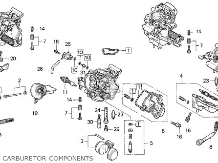 Honda Vf750cd Magna Deluxe 1995 Usa parts list partsmanual
