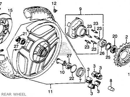 Honda Vf750f 1983 V45 Interceptor Usa parts list