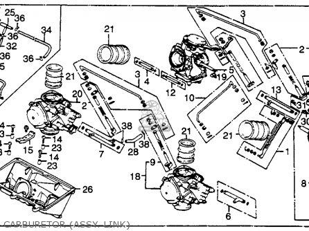 Honda Vf750f 1984 750 Interceptor Usa parts list